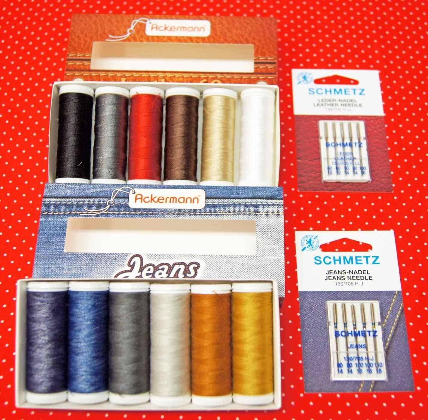391089d8c408c Ackermann Jeans+Leder Garn m. Nadeln ~ CreArtista