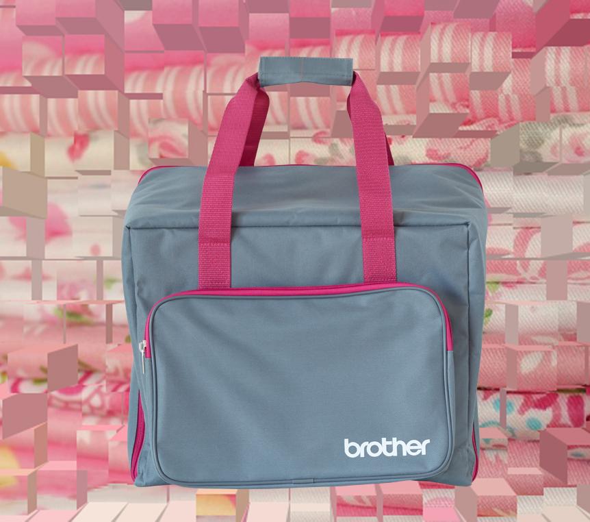 Brother Overlocktasche Grau-pink